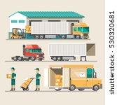 flat vector illustration... | Shutterstock .eps vector #530320681