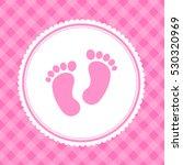 girl baby shower invitation card | Shutterstock .eps vector #530320969