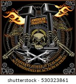 vintage motorcycle label thors...   Shutterstock .eps vector #530323861