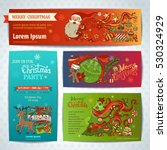 vector set of merry christmas... | Shutterstock .eps vector #530324929