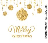 merry christmas card with... | Shutterstock .eps vector #530327881