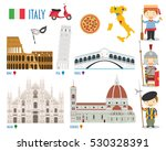 italy flat icon set travel and... | Shutterstock .eps vector #530328391