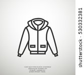 men's jacket icon vector.  | Shutterstock .eps vector #530332381