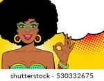 wow pop art face. sexy... | Shutterstock .eps vector #530332675