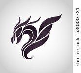 dragon logo vector icon design | Shutterstock .eps vector #530333731