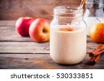 healthy breakfast  smoothies... | Shutterstock . vector #530333851