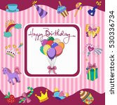 birthday gifts  balloons ... | Shutterstock .eps vector #530336734