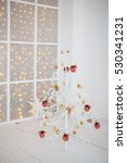 white christmas tree with... | Shutterstock . vector #530341231