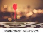 target dart with arrow over... | Shutterstock . vector #530342995