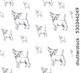 chihuahua pencil drawing... | Shutterstock . vector #530344249