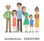 big family flat vector... | Shutterstock .eps vector #530349385
