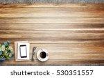 blank notebook  smart phone and ... | Shutterstock . vector #530351557