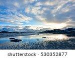 lofoten mountain and sea | Shutterstock . vector #530352877