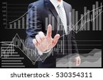 businessman hand touching... | Shutterstock . vector #530354311