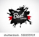 the best offer sign on black... | Shutterstock .eps vector #530355919
