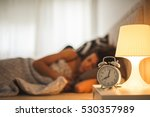 attractive girl waking up from ... | Shutterstock . vector #530357989
