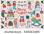 set of vector  christmas... | Shutterstock .eps vector #530361085