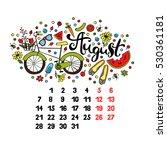 august. 2017. calendar.... | Shutterstock .eps vector #530361181