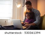 african american dad and his... | Shutterstock . vector #530361394