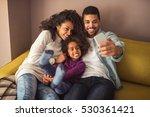 happy african american family... | Shutterstock . vector #530361421