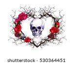 Heart Shape With Human Skull....
