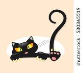 cute little black kitty....   Shutterstock .eps vector #530365519