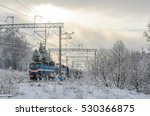 Snowy Landscape With Railway...