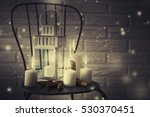 candles against magic holidays... | Shutterstock . vector #530370451