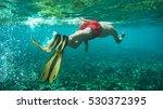 Snorkeling Underwater On Exoti...