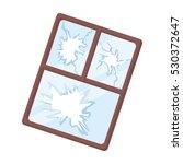 broken window icon in cartoon... | Shutterstock .eps vector #530372647