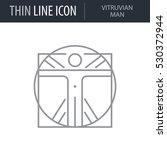 symbol of vitruvian man thin... | Shutterstock .eps vector #530372944