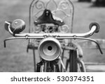 black and white old bicycle | Shutterstock . vector #530374351