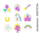 unicorn vector illustration... | Shutterstock .eps vector #530375734