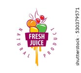 logo of fresh juice | Shutterstock .eps vector #530379571