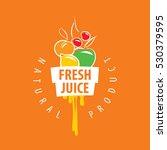 logo of fresh juice | Shutterstock .eps vector #530379595