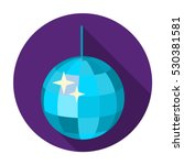 disco ball icon in flat style... | Shutterstock .eps vector #530381581