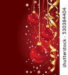 red christmas background | Shutterstock .eps vector #530384404