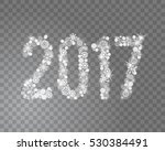 glittering 2017 new year from... | Shutterstock .eps vector #530384491