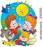 children and pets | Shutterstock . vector #530395