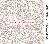 christmas icons seamless... | Shutterstock .eps vector #530396035