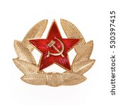 Russian Soviet Red Star Badge ...