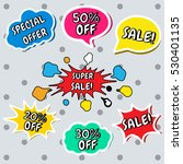 set of vector colorful stickers ... | Shutterstock .eps vector #530401135