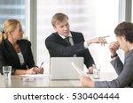 furious boss scolding young... | Shutterstock . vector #530404444