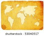 world map | Shutterstock . vector #53040517