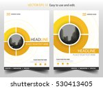 yellow circle annual report... | Shutterstock .eps vector #530413405