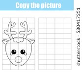 copy the picture using a grid... | Shutterstock .eps vector #530417251