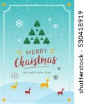 merry christmas and happy new... | Shutterstock .eps vector #530418919