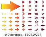 arrow vector orange curve line... | Shutterstock .eps vector #530419237