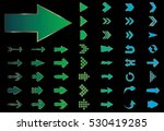 arrow vector green curve line... | Shutterstock .eps vector #530419285