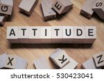 Small photo of Attitude Word In Wooden Cube